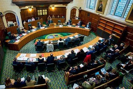 La corte suprema inglese durante un'udienza (Credit, The Supreme Court official website)