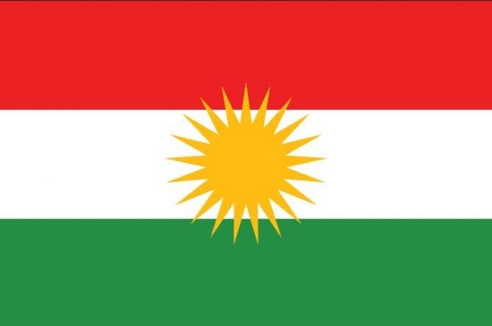 La bandiera del Kurdistan, con i 21 raggi che indicano il 21 marzo, primo giorno dell'anno nel calendario turco