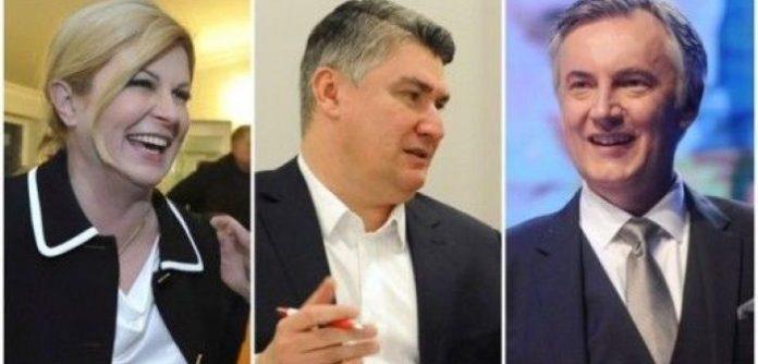 I tre principali contendenti alle elezioni presidenziali in Croazia