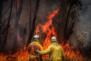 Pompieri australiani volontari.